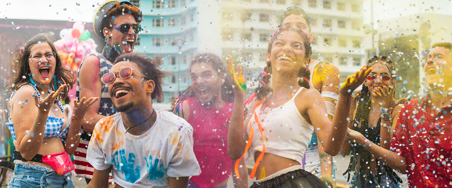 Outdoor holi festival party